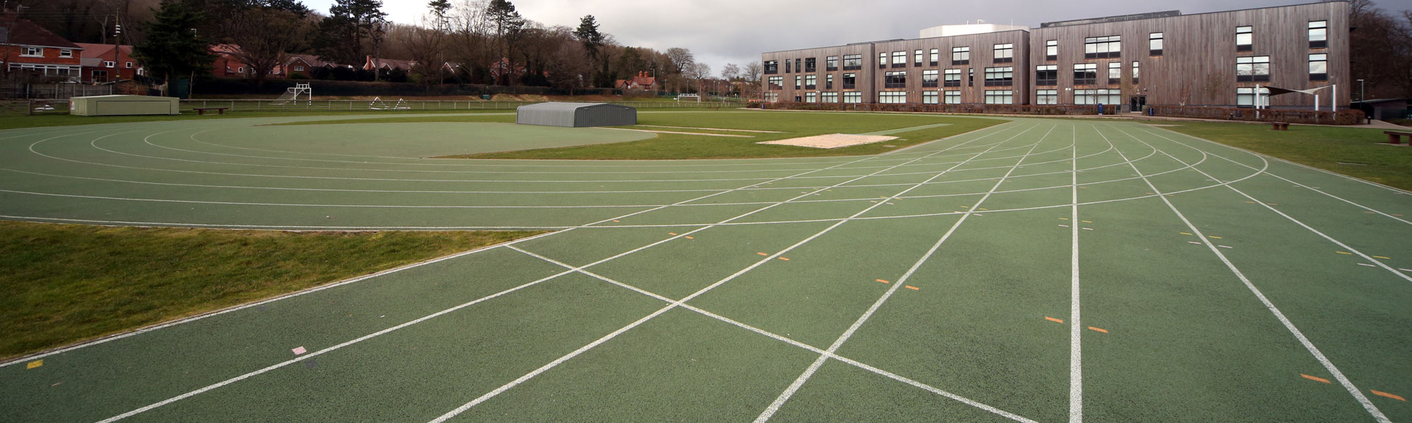 Outdoor school athletics track