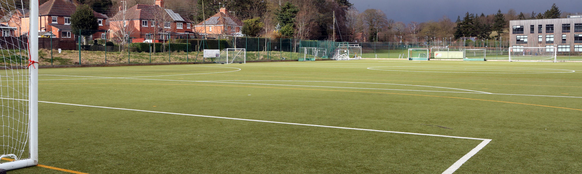 Football pitch at William Brookes School