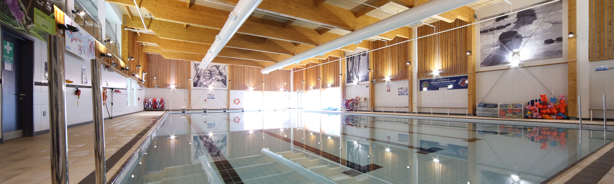 Swimming pool at William Brookes School in Much Wenlock, Shropshire