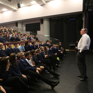 William Brookes School assembly